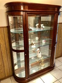 LIGHTED GLASS CURIO CABINET