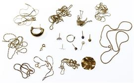 14k Gold Scrap Jewelry Assortment