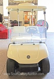 — RUNNING –  2004 Yamaha Electric 48 Volt Club Golf Cart with Charger  — Good Condition —  Located Inside – Auction Estimate $1500-$2500