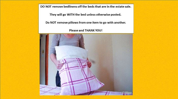 leave bed linens