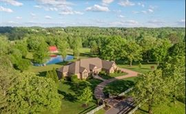 Aerial view of Magnificent Mansion Estate