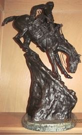 "HENRY BONNARD ""LOST WAX"" , BRONZE CASTING OF. REMINGTON....""MOUNTAIN MAN "" WITH CERTIFICATE OF AUTHENTICITY"