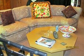 4 PIECE WEIMAN SOFA WITH LARGE ATELIER VERSACE DECORATIVE PILLOW
