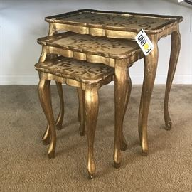 Set of 3 Italian Nesting Tables