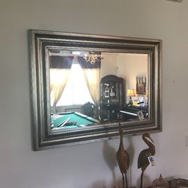 Large Silver Framed Mirror (heavy)