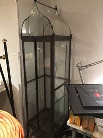 Illuminated illuminated steel display cabinet with glass shelves (not shown but included) From H.Potter Co.