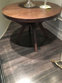 Dinning table, crate and barrel seats 6