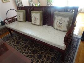 Beautiful Rosewood Carved Settee