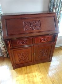 Carved Rosewood Desk