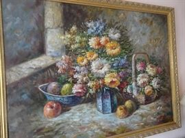 Oil on Canvas - Floral & Fruit