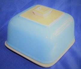 Vintage square butter or refrigerator plate
