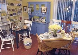 drop leaf table, kitchen cupboard
