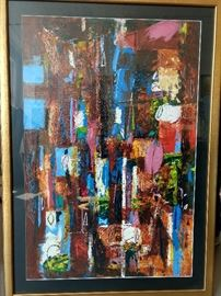 Large, original abstract oil on canvas, by Russian artist Dmitriy Proshkin, currently living in Chattanooga, TN.