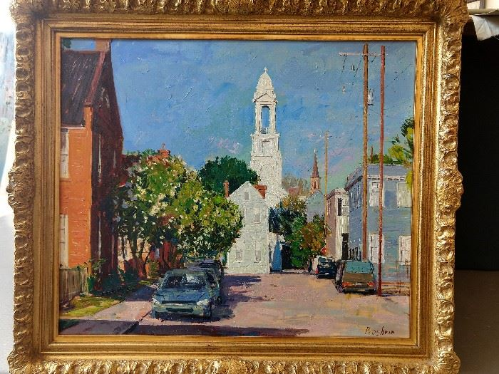 Original  oil on canvas, Charleston, SC scene, by Russian artist Dmitriy Proshkin, currently living in Chattanooga, TN.