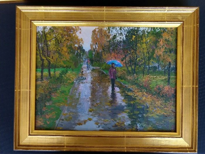 Original artist signed oil on canvas, by Russian artist Ralif Ahmetshion.