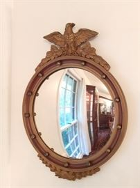 Every Southern home needs a convex eagle mirror like this one - it's wood and nicely vintage.