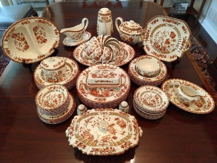 "75-Piece Set of Copeland Spode ""Indian Tree"" (England) old mark, w/nice serving pieces!                                  Produced from 1879 - 1994."
