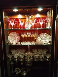 NICE stemware - Waterford, Baccarat, ABCG, German cut/etched wines & champagne coupes.