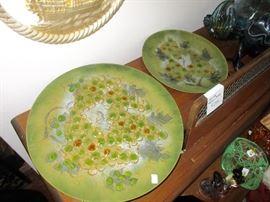 Sasha Brastoff enamel/copper trays