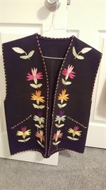 Embroidered vest