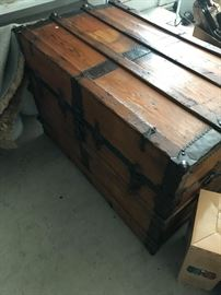 Antique Huge Steamer Trunk