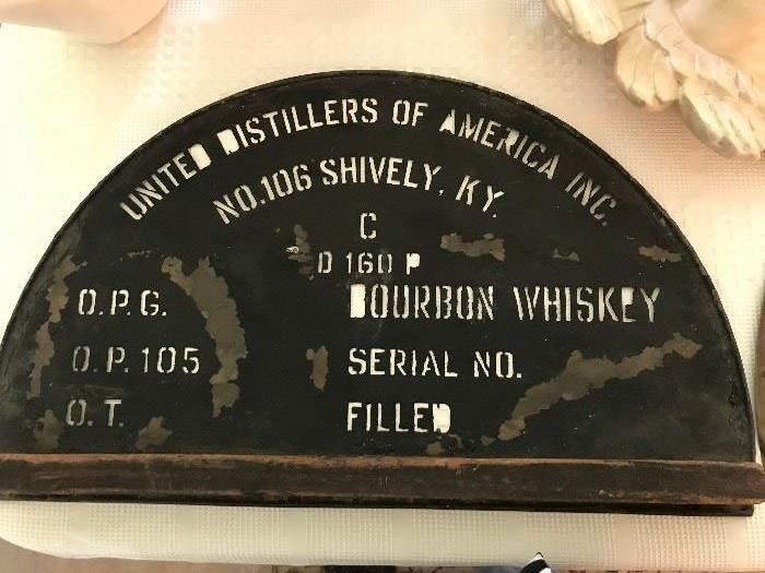 Antique Whiskey Barrel Marking Templates