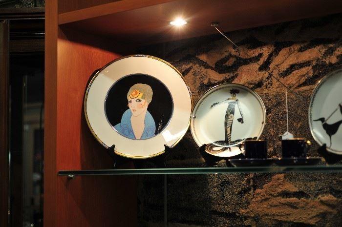 Art Deco Erte Plates.