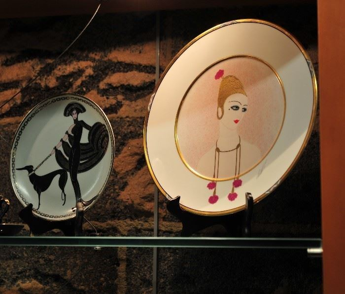 Art Deco Plates by Erte.