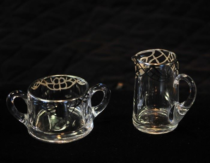 Crystal Silver Coffee Set.