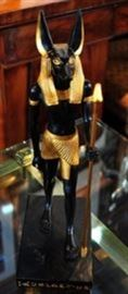 Egyptian Black Gold Statue.
