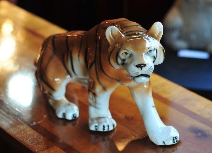 Handmade Porcelain Tiger