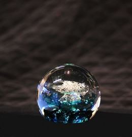 Selkirk Glass Ball Paperweight.