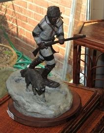 Starr York Signed Numbered Bronze The Chase of the Cat.