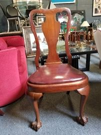 Leather & Mahogany Chair
