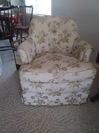 overstuffed chair (one of two)