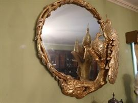 "large  mirror  with  peacocks-this  was  custom  made  and is  44""dia."