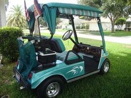 Older Club Car, electric. Good condition, Sunbrella Covers