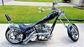 2004 American Ironhorse Lonestar Chopper 111ci S&S Motor 6spd Baker Right Side Drive Diamond Cut Heads Custom Paint Job by Famed Biker Build off Painter Buck Wyld 280 Rear Tire