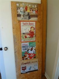 Reproduction Tin Signs--Borax, Kellogg's Frosted Flakes, Campbell's Soups