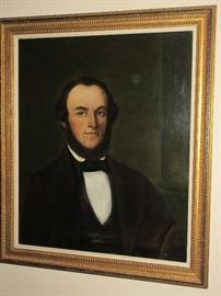 "1850's   on board 25"" by 30""    have providence Marcus Walker-Louisiana plantation owner"