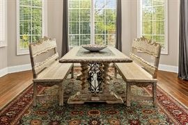 BELRUSE BENCH DINING - SET of 3 (Santa Lucia - Peruvian Benchmade Furniture)