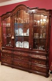Gorgeous Bombay Style China Cabinet / Hutch