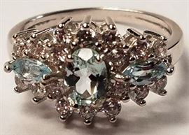Blue topaz sterling ring