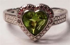 Peridot sterling ring
