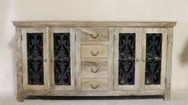Iron Butterfly credenza w/ iron fretwork