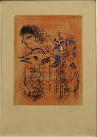 """Marc Chagall """"Bouquet a lOiseau"""""""