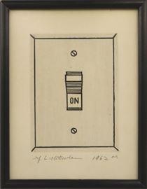 """Roy Lichtenstein etching """"On"""""""