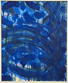 Sam Francis, watercolor on paper