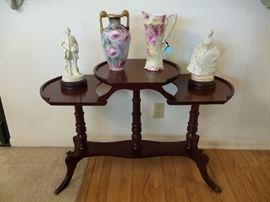 Unique antique two tier table