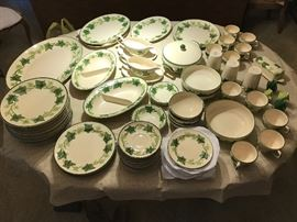 Ivy Francesca Earthenware there's a place setting for 14 plus many extra pieces.